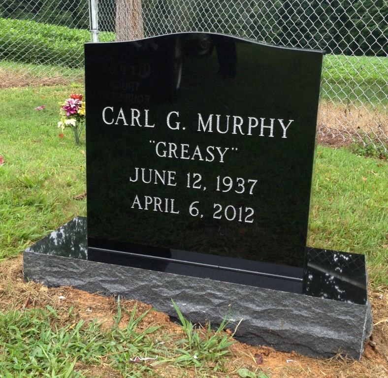 Headstone for Carl Murphy