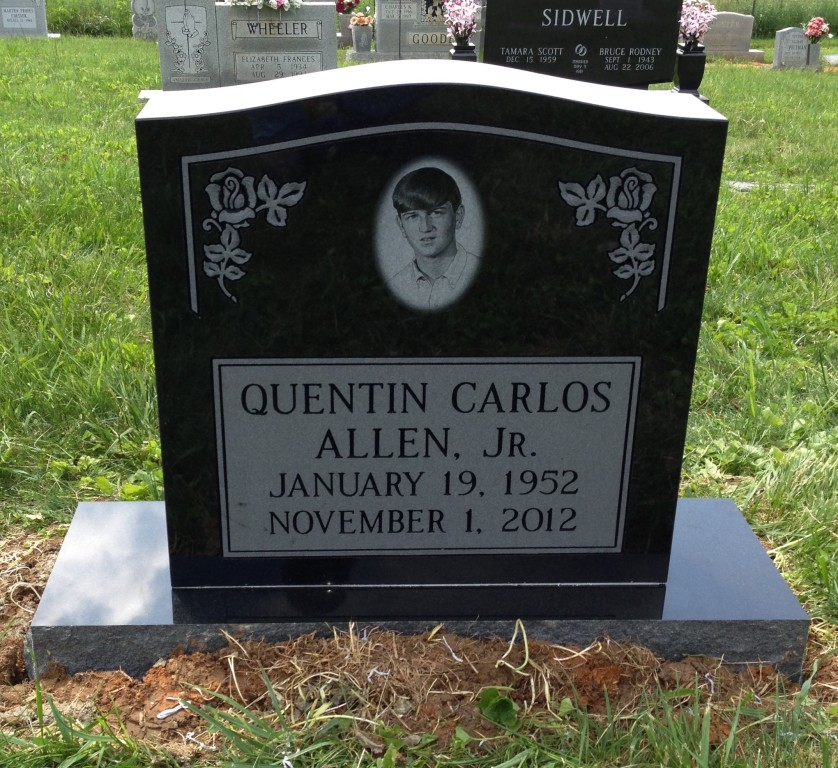 Headstone for Quentin Carlos Allen, Jr.