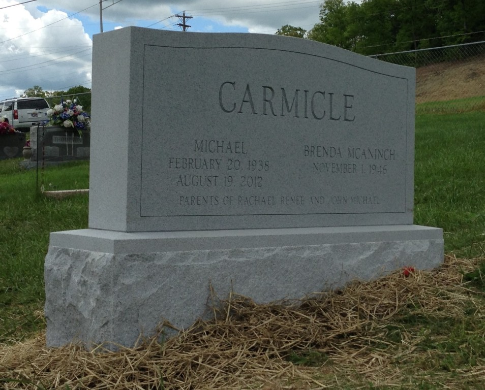 Headstone for Michael and Brenda Carmicle