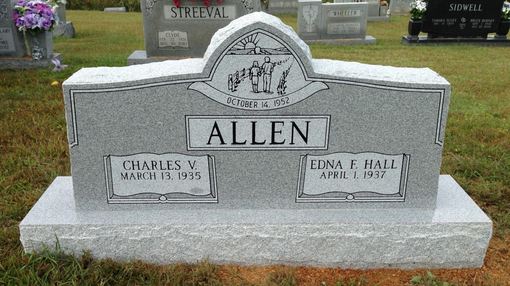 Headstone for Charles and Edna Allen