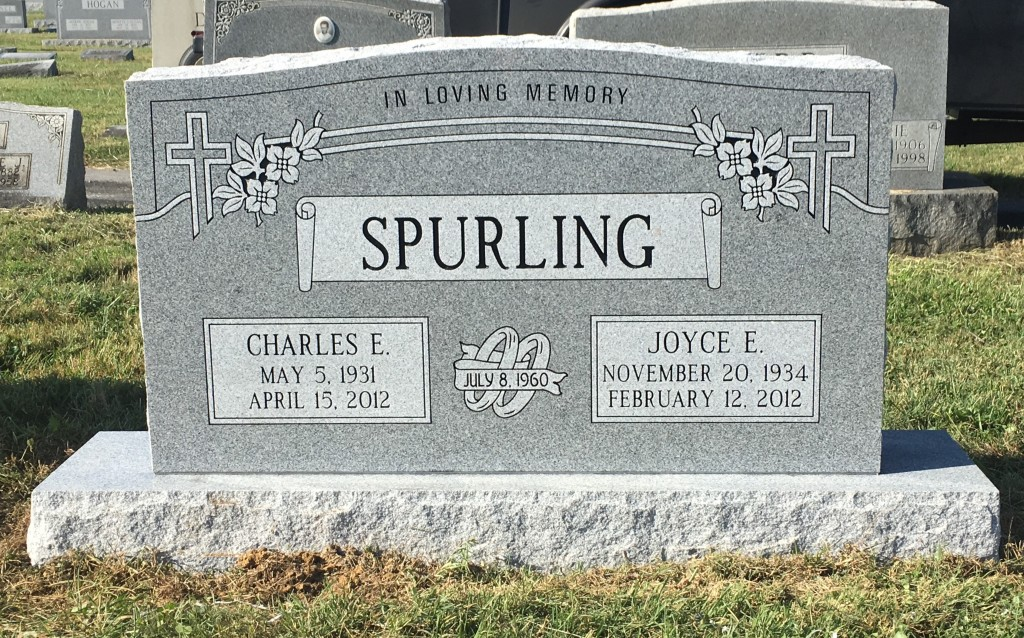 Headstone for Charles and Joyce Spurling