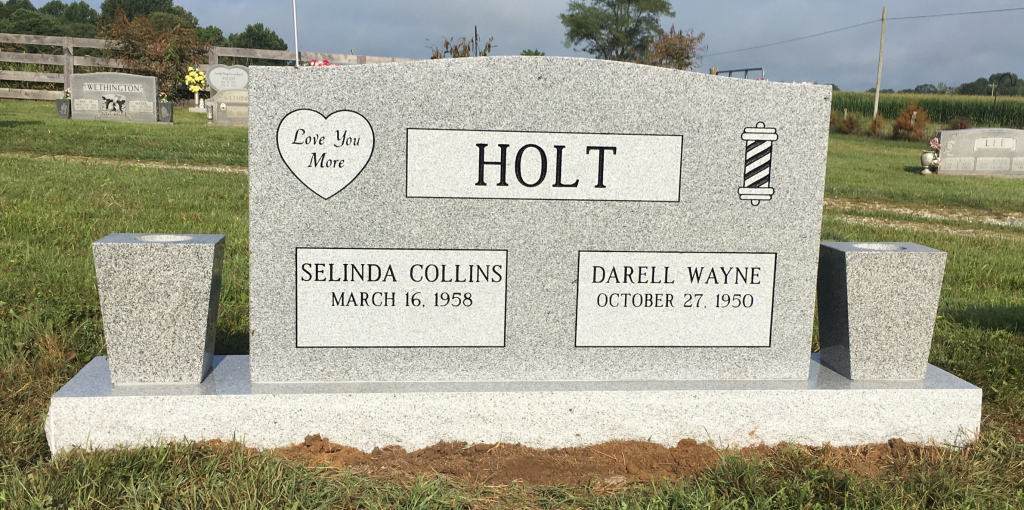 Headstone for Darell and Cindy Holt