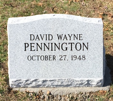 Bevel slant marker for David Wayne Pennington