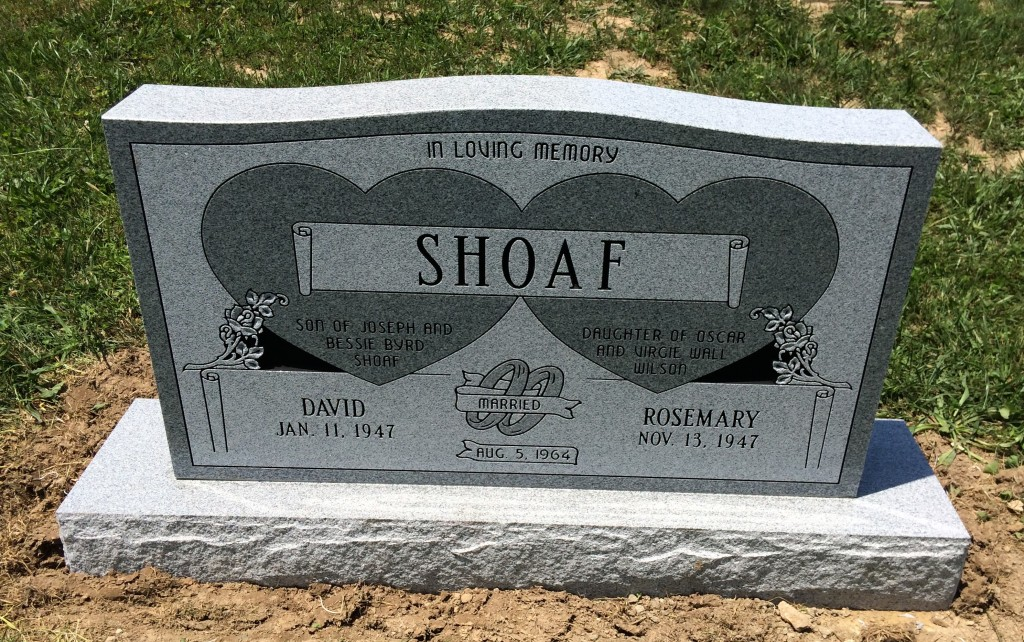 Headstone for David and Rosemary Shoaf