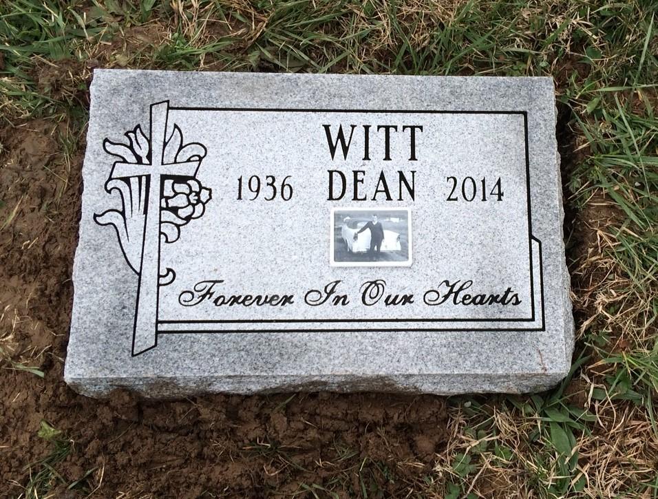 Granite bevel marker for Dean Witt