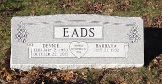 Dennie and Barbara Eads double slant marker