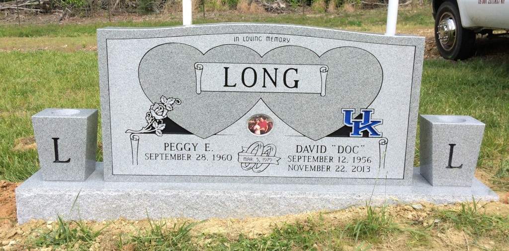 Headstone for David and Peggy Long