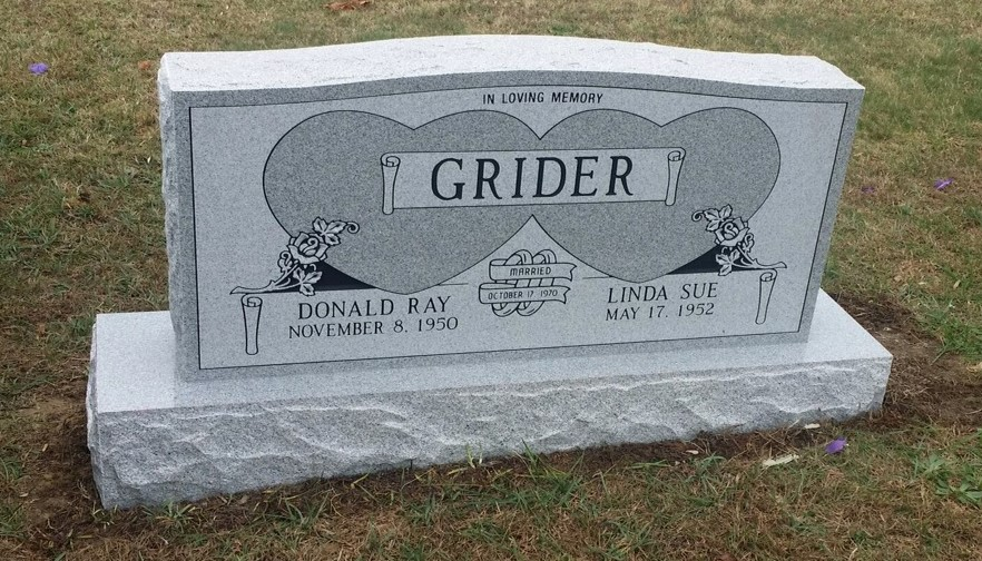 Headstone for Donald and Linda Grider