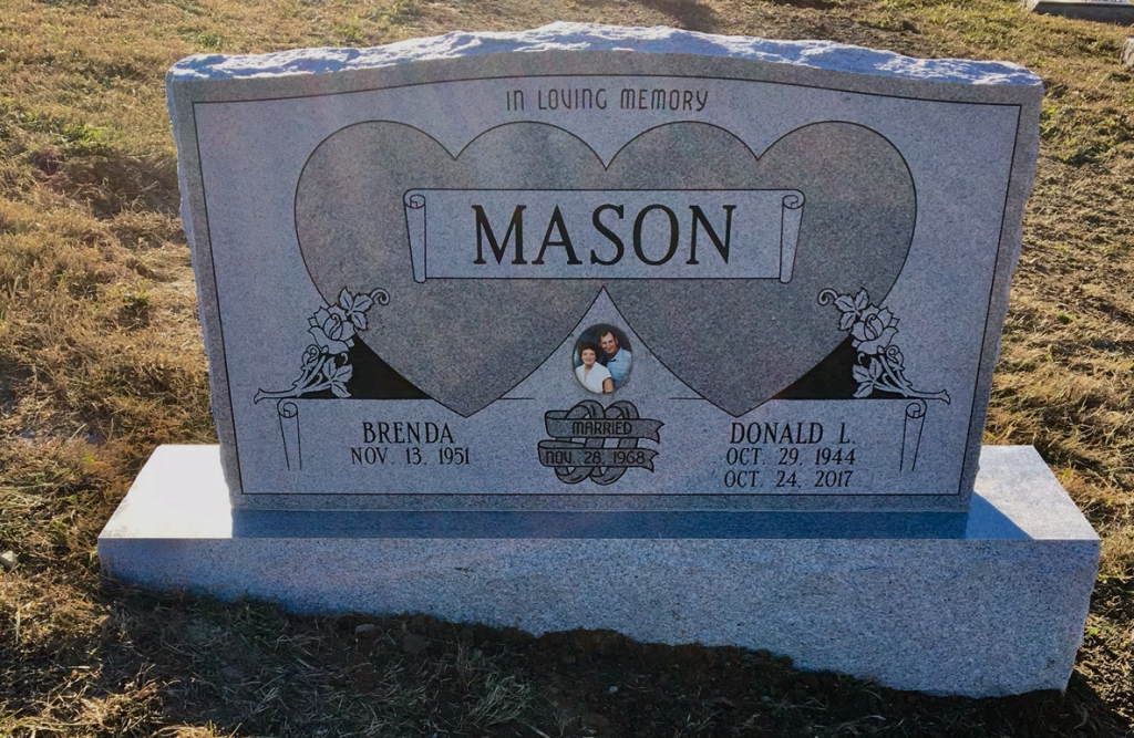 Headstone for Donald and Brenda Mason