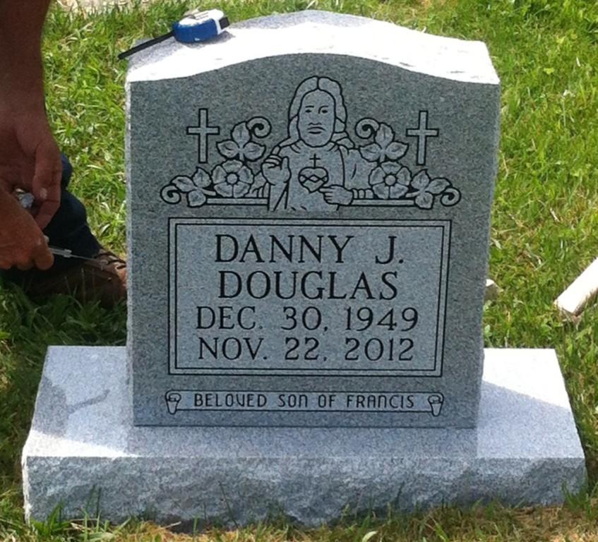 Headstone for Danny Douglas