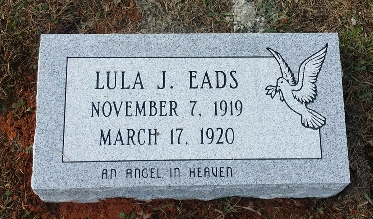 Granite bevel marker for Lula Eads