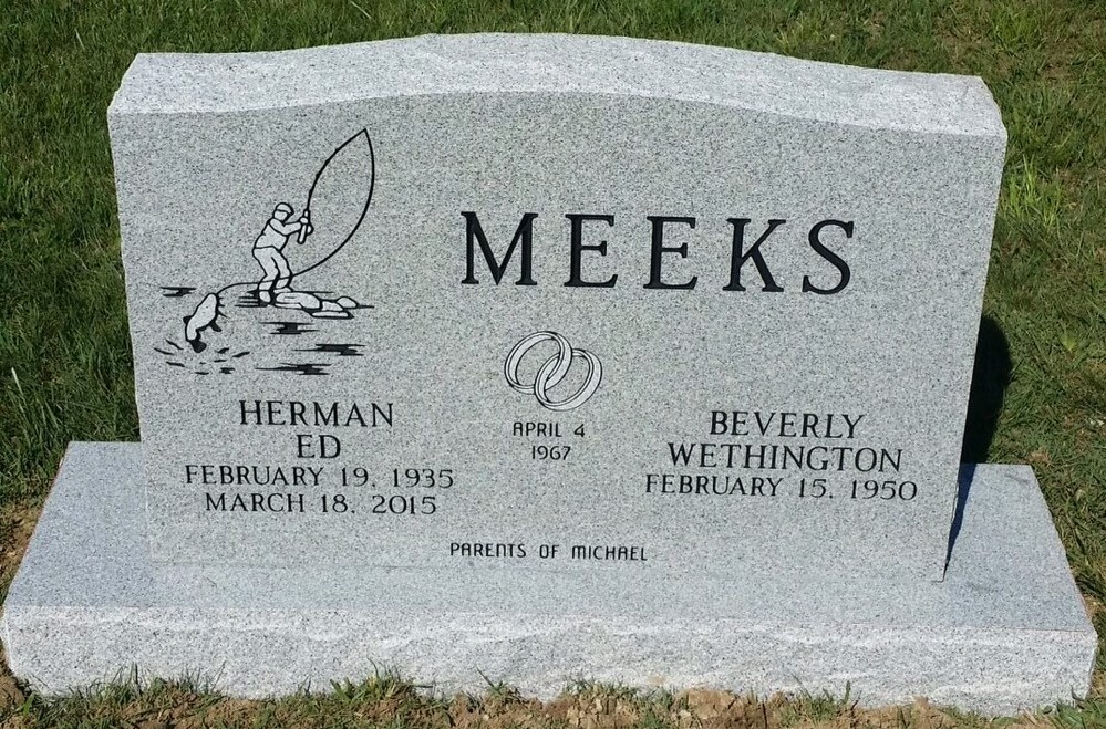 Headstone for Ed and Beverly Meeks