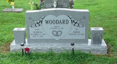 Headstone for Edwin and Patty Woodard