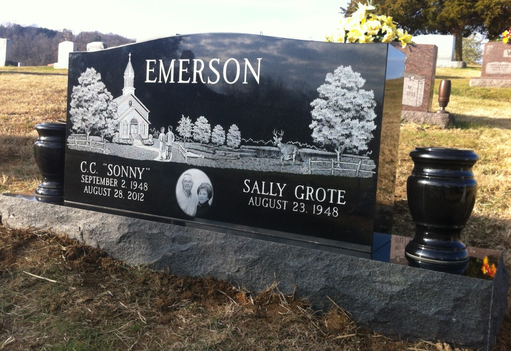 Headstone for Sonny and Sally Emerson