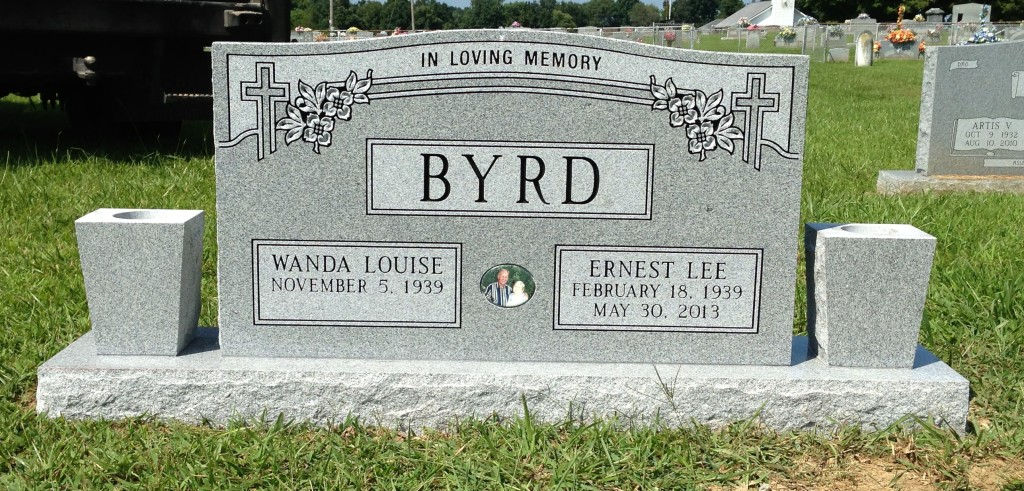 Headstone for Ernest and Wanda Byrd