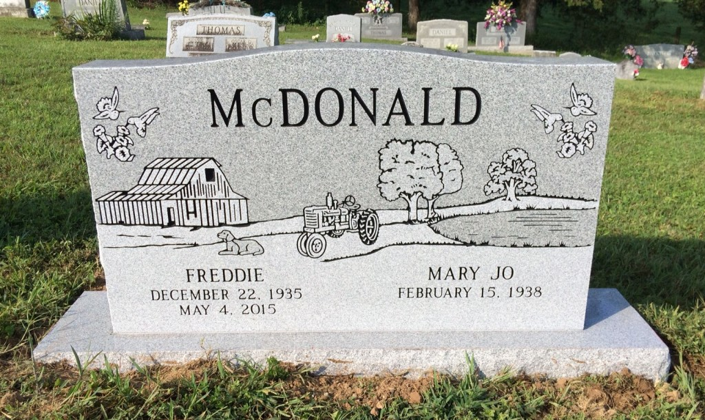 Headstone for Freddie and Mary Jo McDonald