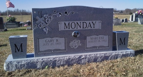 Headstone for Gary and Marlene Monday