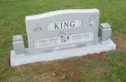 Headstone for George and Mardale King