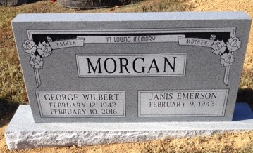 Headstone for George and Janis Morgan