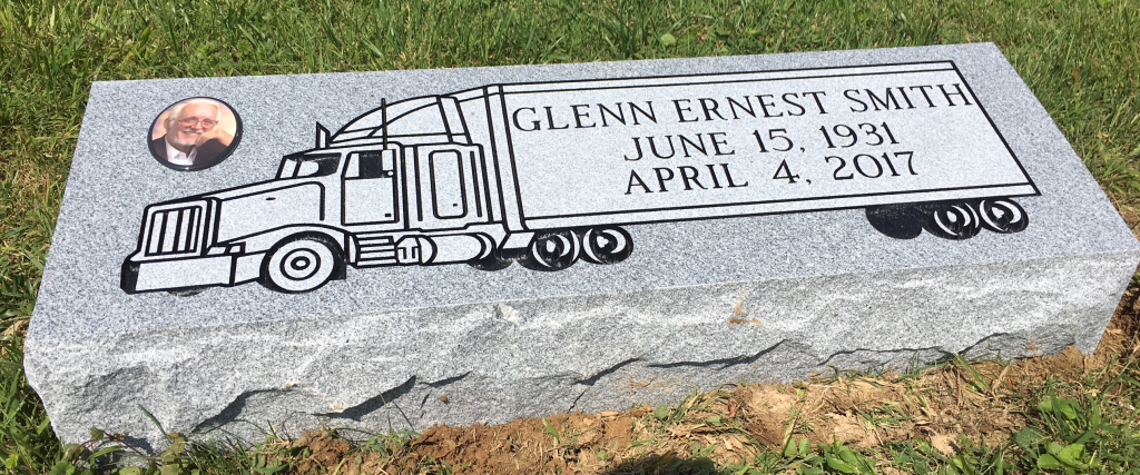 Granite bevel marker for Glenn Smith