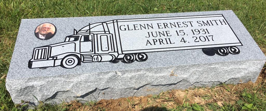 Granite bevel marker for Glenn Smith