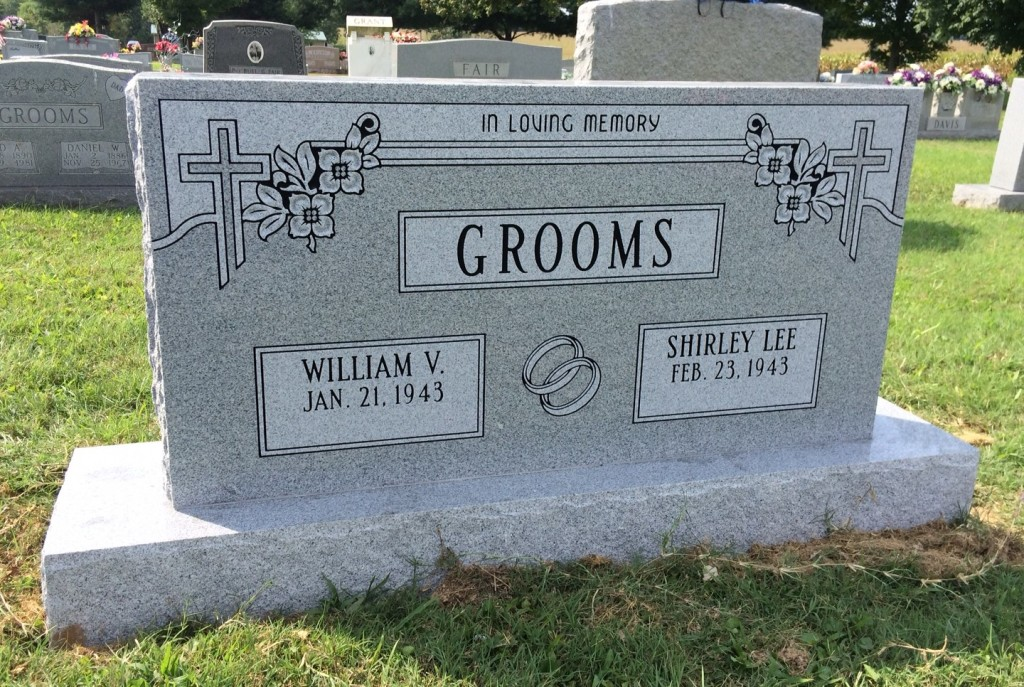 Headstone for William V. and Shirley Grooms