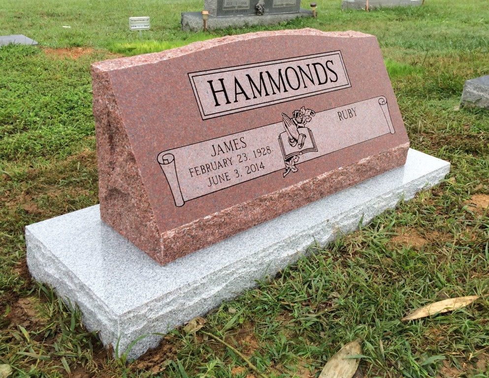 James and Ruby Hammonds double slant marker with base