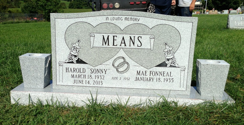 Headstone for Harold and Mae Means