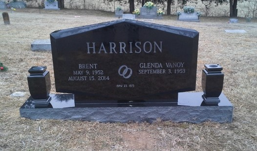Headstone for Brent and Glenda Harrison