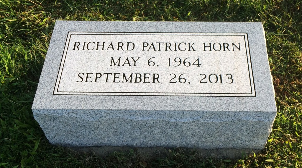 Granite bevel marker for Richard Patrick Horn