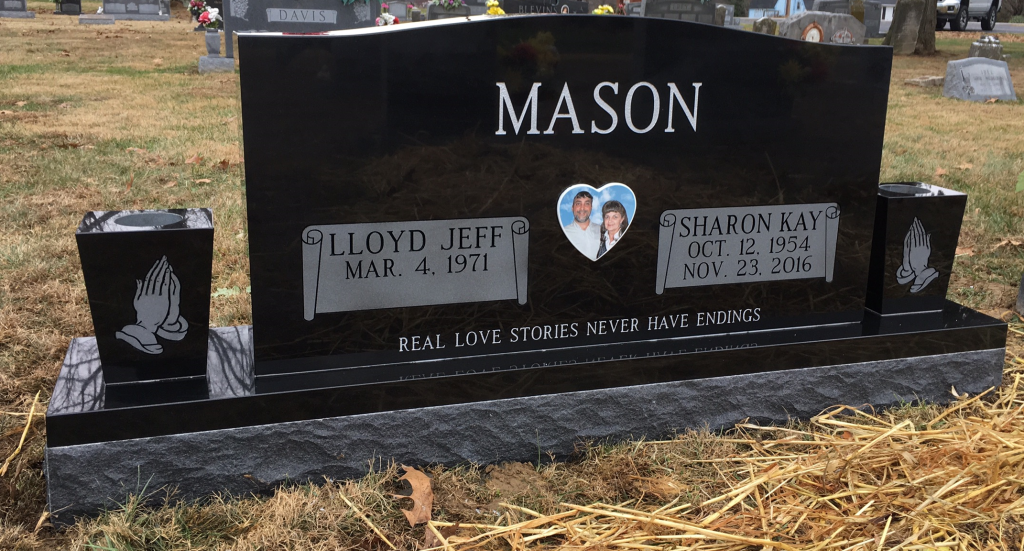 Headstone for Jeff and Sharon Mason