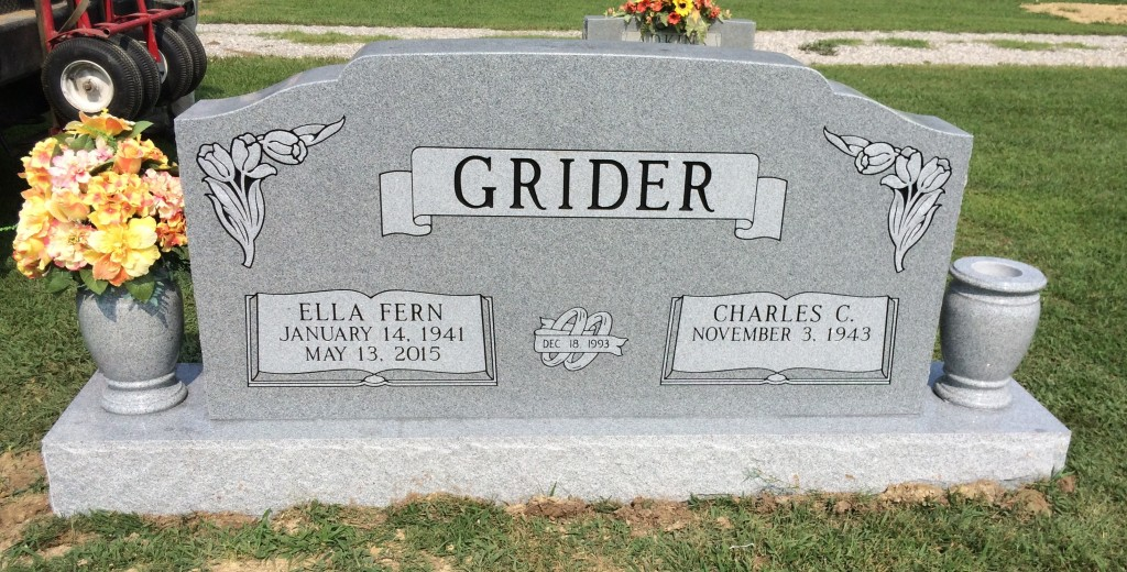 Headstone for Charles and Ella Fern Grider