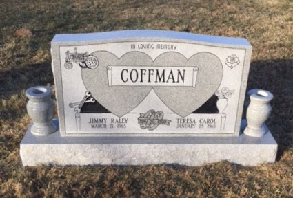 Headstone fo Jimmy and Teresa Coffman