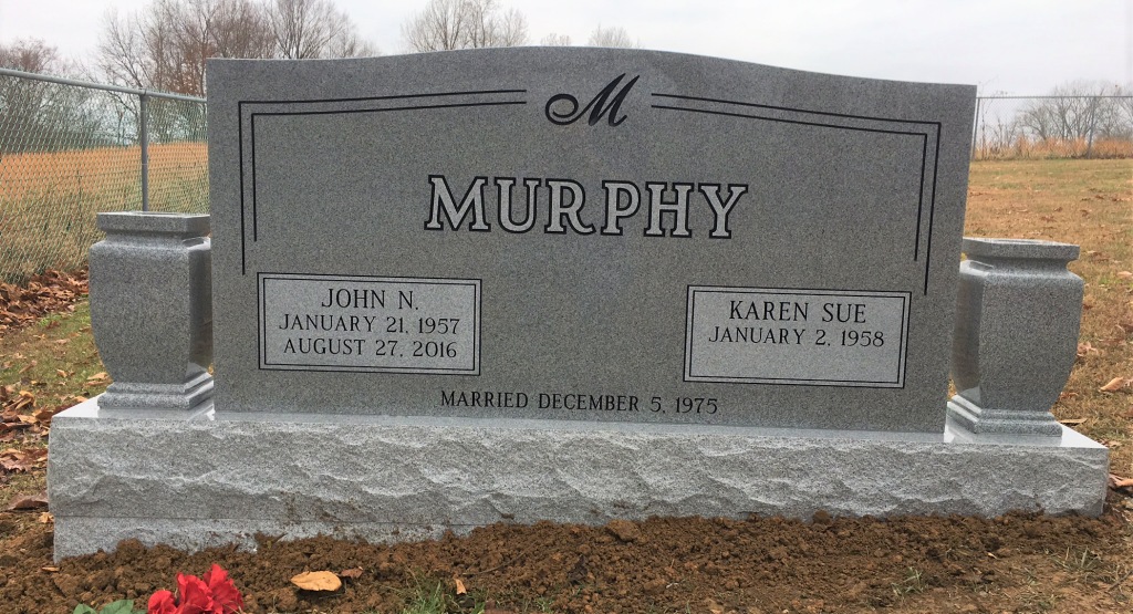 Headstone for John and Karen Murphy