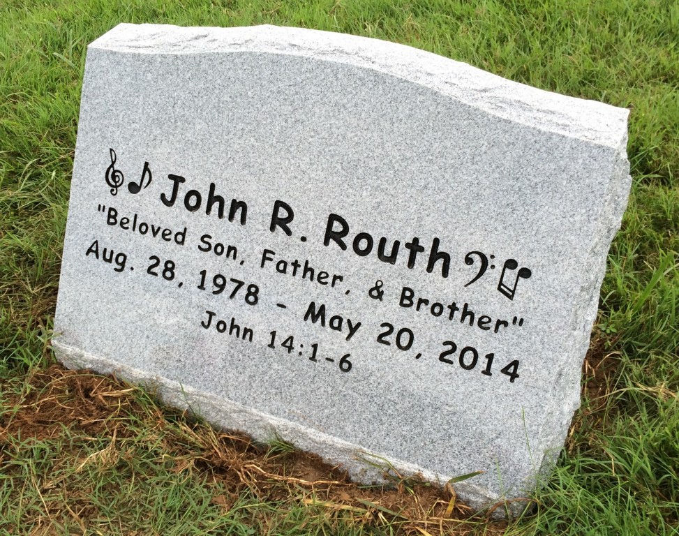 Slant marker for John Routh