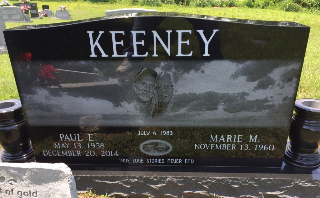 Headstone for Paul and Marie Keeney
