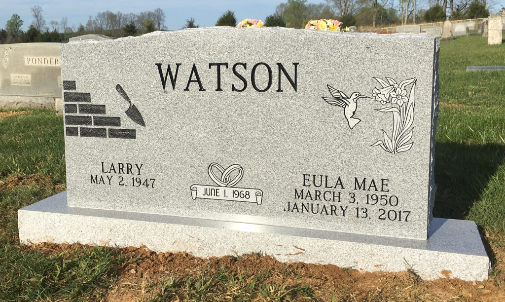 Headstone for Larry and Eula Watson