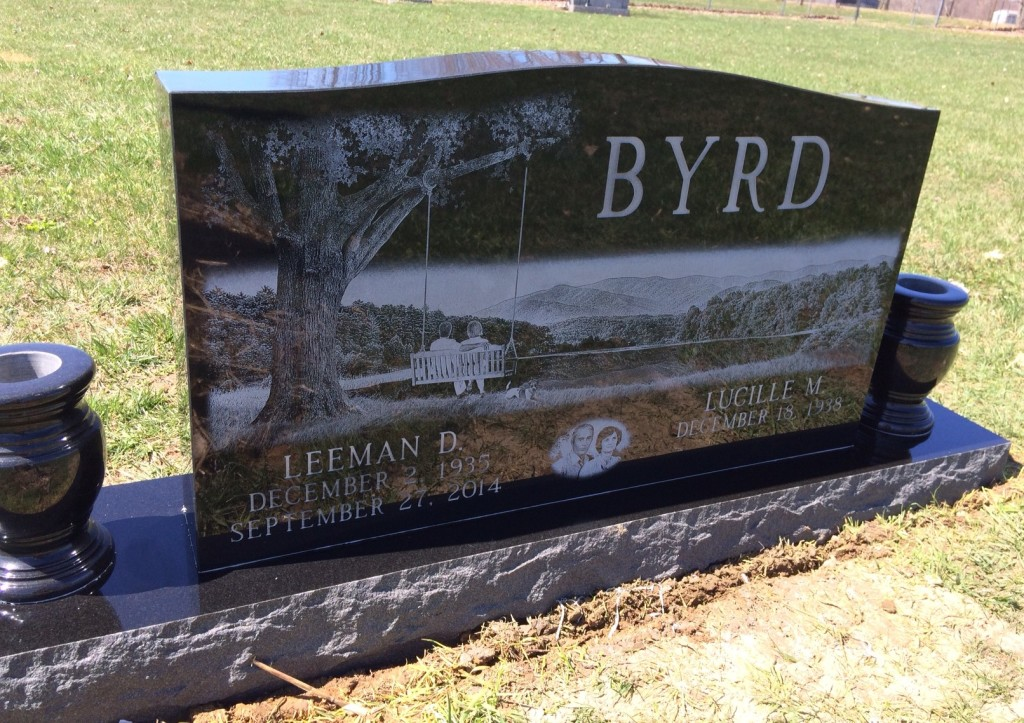 Headstone for Leeman and Lucille Byrd