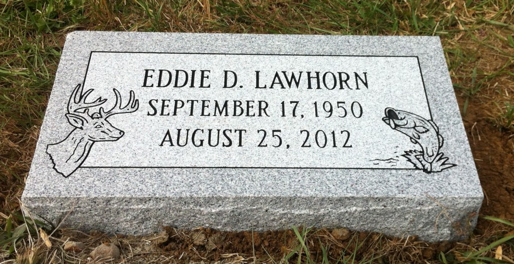 Granite bevel marker for Eddie Lawhorn