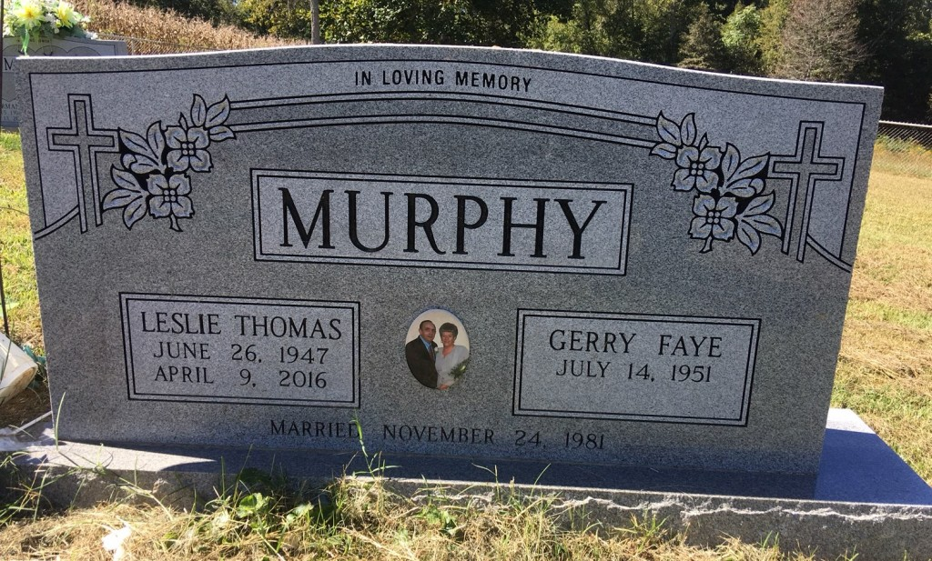 Headstone for Leslie and Gerry Murphy
