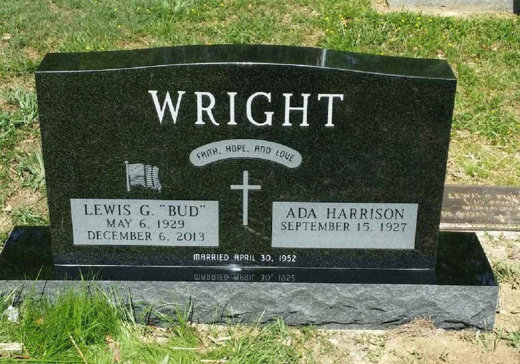Headstone for Bud and Ada Wright
