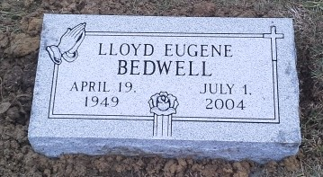 Granite bevel marker for Lloyd Eugene Bedwell