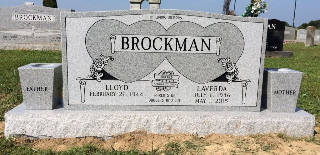 Headstone forLloyd and Laverda Brockman