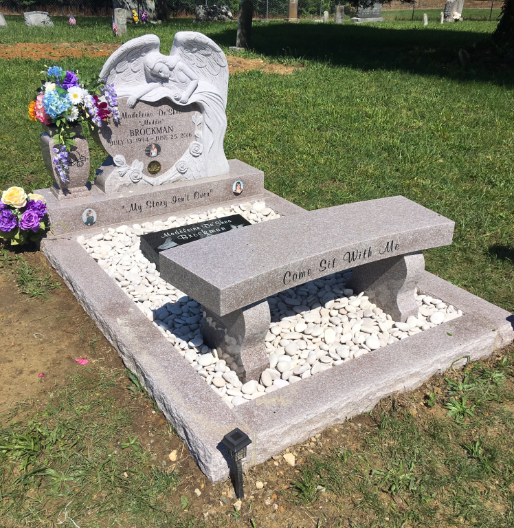 Headstone for Maddie Brockman