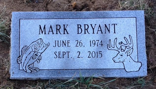 Granite bevel marker for Mark Bryant