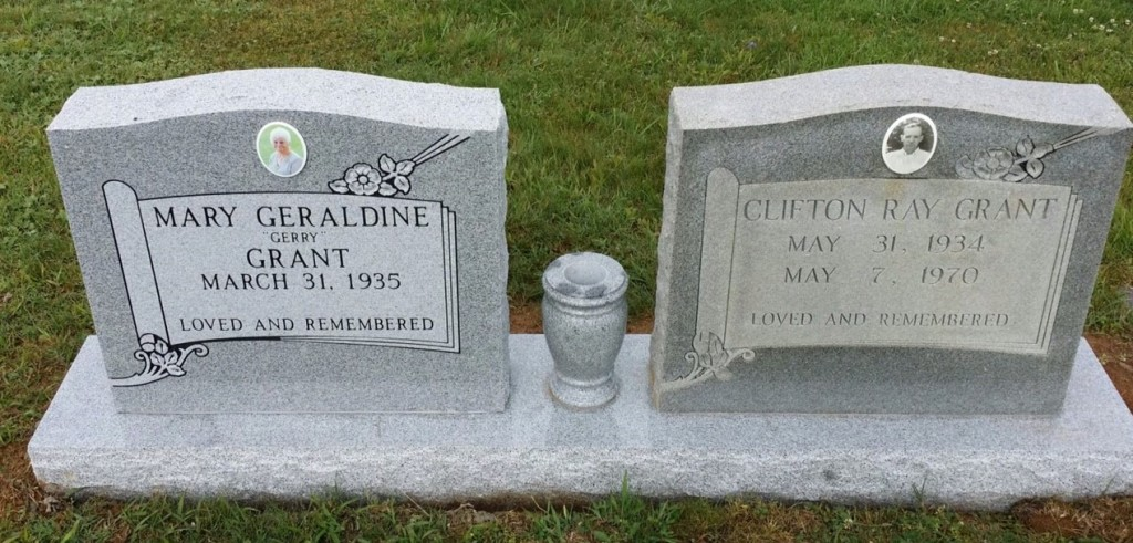 Headstone for Clifton and Gerry Grant