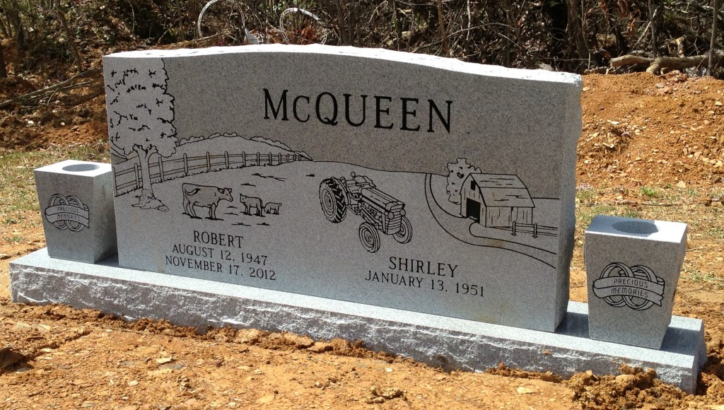Headstone for Robert and Shirley McQueen