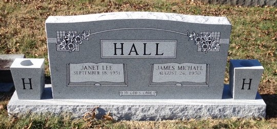 Headstone for Mike and Janet Hall