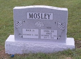 Headstone for Mack and Linda Mosley