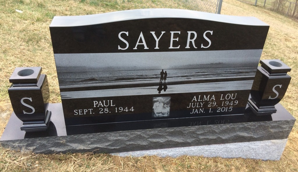 Headstone for Paul and Alma Lou Sayers